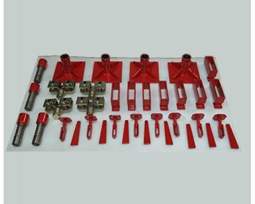 Комплект для фиксации автомобиля к напольным системам типа KOREK