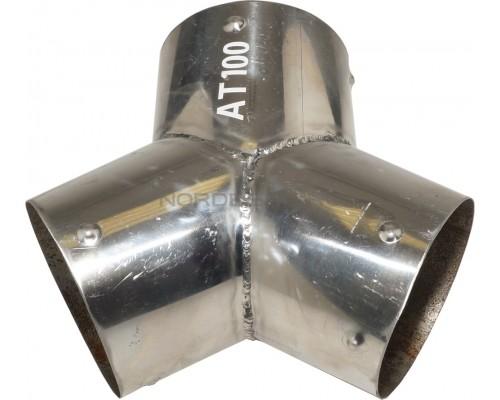 Насадка металлическая Y-образная Nordberg AT100 для шланга D=100 мм