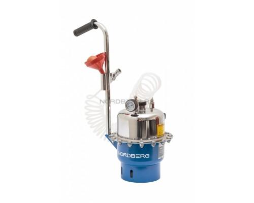 Установка пневматическая для прокачки тормозной системы и системы сцепления, объем 6 л.
