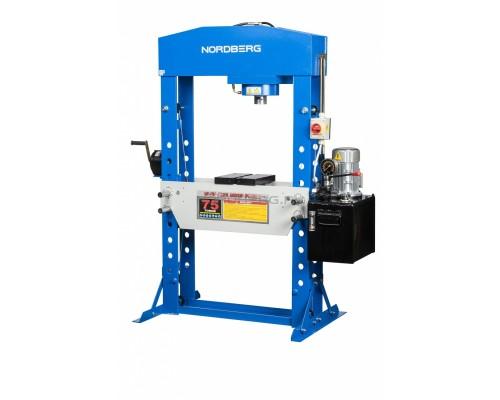 Пресс электрогидравлический NORDBERG N3675E, усилие 75 тонн