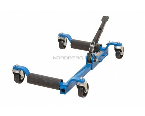 Домкрат механический подкатной для перемещения авто Nordberg N3S1, г/п 560 кг