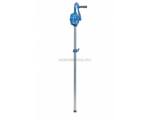 Насос ручной роторный NORDBERG NO4221 для раздачи масла из бочек об. 60-220 л